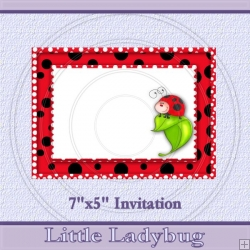 Little Lady Bug Invite