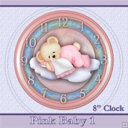 Baby 1 Pink Clock