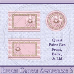 Breast Cancer Awareness 3 Set Quart