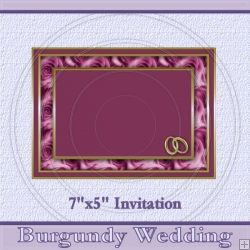 Wedding Burgundy Invite
