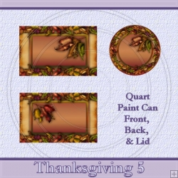 Thanksgiving 5 Set Quart