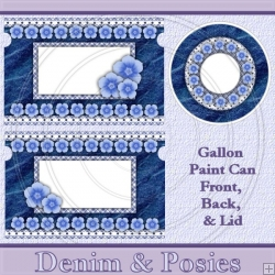 Denim & Posies Set Gallon