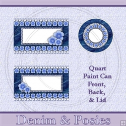 Denim & Posies Set Quart