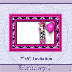 Birthday 9 Invite