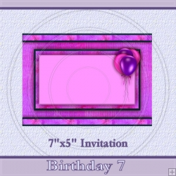 Birthday 7 Invite