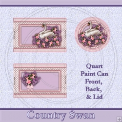 Country Swan Set Quart